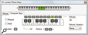 A small but very worthwhile addition to Reason is the ability to generate MIDI input directly from the QWERTY keyboard.