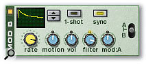 The Malström Modulation generator is great for creating rhythmic effects.