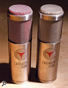 Crowley & Tripp's Soundstage Image (left) and Studio Vocalist ribbon microphones.