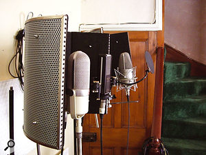 SE Reflexion Filters were used with all the mics, to minimise unwanted room sound, for the vocal test recordings. The Crowley & Tripp Studio Vocalist turned out to be our favourite for the test vocalist.