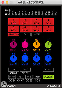 The A‑88Mk2 Control app's Layer pop-up is very powerful, letting you specify splits, layers and overlaps with a freedom that's impossible via any other method.