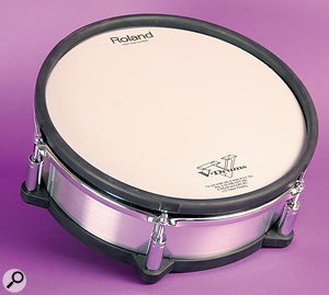 The PD25XS snare pad features amesh head developed in co‑operation with Remo.