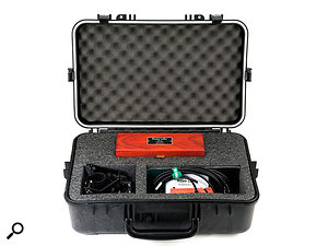 The Deluxe kit includes the RSM24 shockmount, a  wooden mic box, and a  20-foot XLR cable.