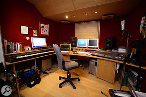 Brown's control room, where most of Rumer's vocals were recorded.