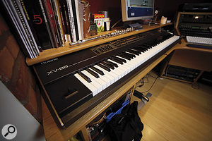 Brown's humble Mackie mixer serves as the main front end to his Digital Performer‑based recording system.