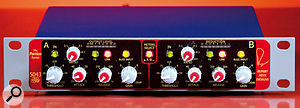 The 5043 Two Channel Compressor-Limiter not only sounds great but has a novel metering system that saves time and hassle.