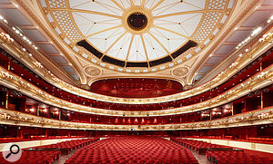 The view from the stage: the Royal Opera House auditorium is a  large space!