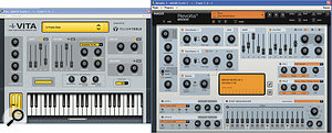 Cream of the crop of new instruments are the Revolta2 virtual analogue synth (right) and the Vita sample player.