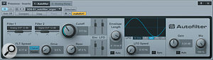 This slow, syrupy filter sweep sounds sort of like a  flanger, but not exactly!
