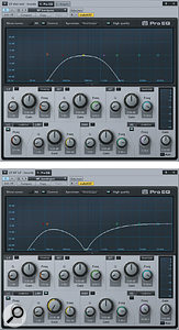To maintain a  natural tone in a  parallel distortion chain, it's often necessary to band–pass the distorted channel and apply the converse EQ shape to the unprocessed signal.