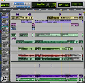 Screen 2: Here is a song recorded in Pro Tools, which I exported to an AAF file.