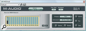 General MIDI Module is a basic sound module, offering an efficient way to play back scores on less powerful systems.