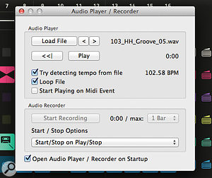 Used as a  stand–alone application, Looperator allows you to process pre–recorded audio files.