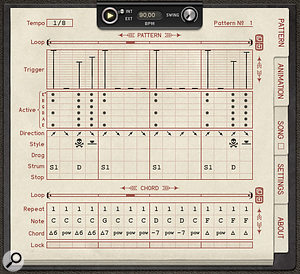 Guitarist's pattern sequencer provides the programming tools needed to make convincing use of its sample library.
