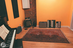 The main Spacebomb East live room is fairly compact, but has played host to some large ensemble sessions.