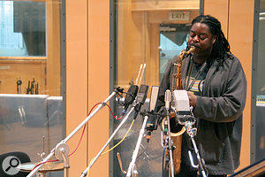 Courtney Pine plays sax at AIR Lyndhurst studios while the RNR1 is put through its paces against arange of more established ribbon and condenser mics.