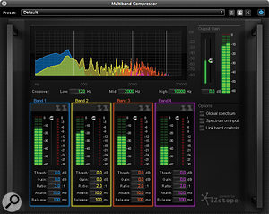The bundled iZotope plug-in offers excellent mastering, corrective and file conversion tools.