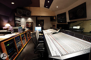 All four rooms at Record Plant are based around SSL desks: this is the Studio 3 control room.