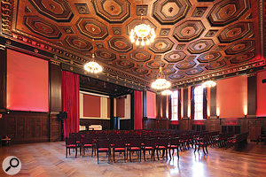 The 'great hall by the wall': today the Meistersaal is once again avenue for public performance, but can still be used for recording.
