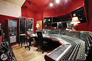 The Magic Shop's control room is based around aunique 56-input Neve desk, configured in 'wrap-around' format.