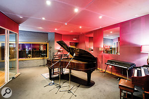 Livingston's complex of five interconnected live rooms hosts a  number of sought–after instruments.