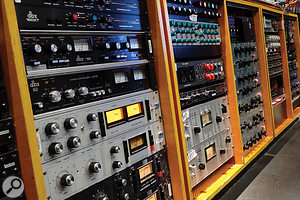 The size of Studio 3's desk is well matched by its outboard racks!