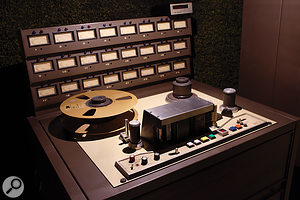 The studio's vintage MCI 24-track tape recorder is perfectly paired with a JH500 console from the same manufacturer.
