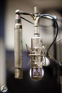The studio's mic collection includes vintage AKG C12 and Neumann U47 microphones.