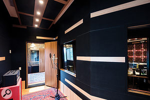 A vocal booth and a very reflective echo chamber complement the main live room.