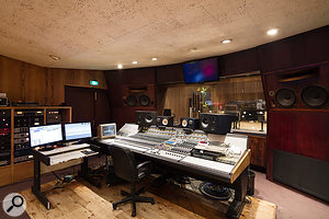 Studio A's control room is based around a Neve 8248 console.