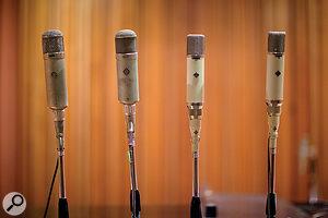 Panda's mic locker boasts no fewer than three Telefunken ELAM 251s and six Neumann U47s, amongst other classic microphones.