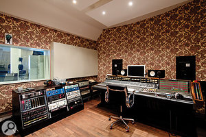 Studio 2's control room is centred around a vintage API 3232 console.