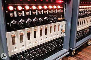Vintage German Siemens and Telefunken preamps in Studio 1.