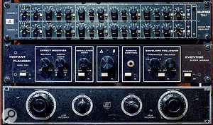 The outboard in Studio A includes rare units such as an Eventide Instant Flanger and a UTC 4-B filter.