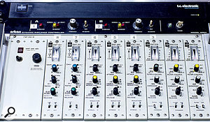 EMT 258, 260 and 261 dynamics processors are located in Studio D.