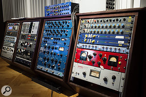 The large outboard collection features a  lot of Chandler and Tube-Tech gear.