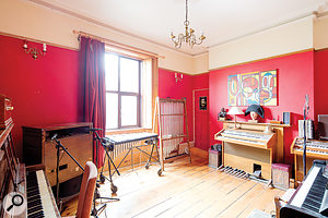 The Piano Room is home to numerous desirable keyboard and percussion instruments.