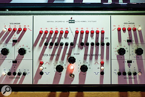 Rare valve processors in the control-room rack include a  Klein+Hummel UE100 equaliser and rackmounted Pye limiters.