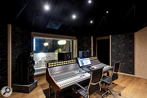With a 70-square-metre floor space, the control room is a flexible environment that can accommodate multiple players during tracking and overdubbing. sessions.