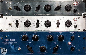 Tube-Tech CL1A and LCA-2A compressors are available, as is an Al.So Dynax 2.
