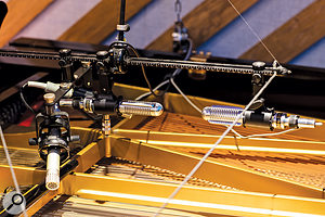 Two Bang & Olufsen BM4 ribbon mics on the grand piano.