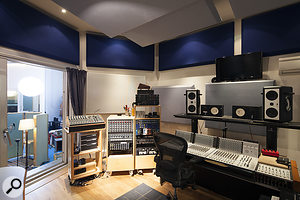When the studio was remodelled, a separate control room was added.