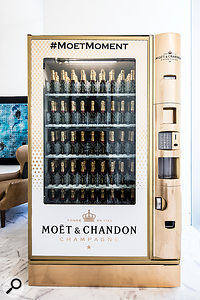 For those Champagne moments: one of only three Moet et Chandon vending machines in the world.