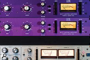 FET limiting amplifiers: Apair of Purple Audio MC77s and aUREI 1178.