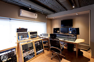 The smaller Studio B is perfect for overdubbing and mixing.