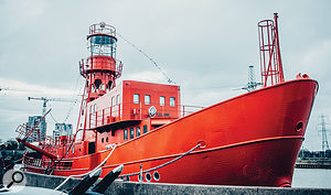 The boat that rocks: Soup is housed in a  former lightship moored on the River Thames in London.