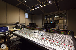 Studio A's control room features a 48-channel SSL G+ console.