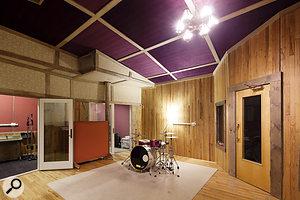 Studio B's live recording facilities are also very impressive.