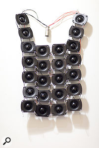Joel Hamilton wore this tweeter collar in an episode of the web series Art Of Sound.