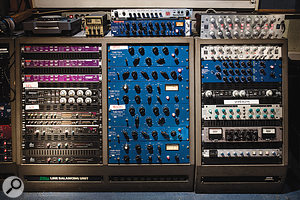 The huge selection of outboard in Studio A includes numerous Tube-Tech units (centre).